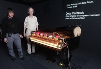 """Deus Cantando"" at the ars electronica center linz"
