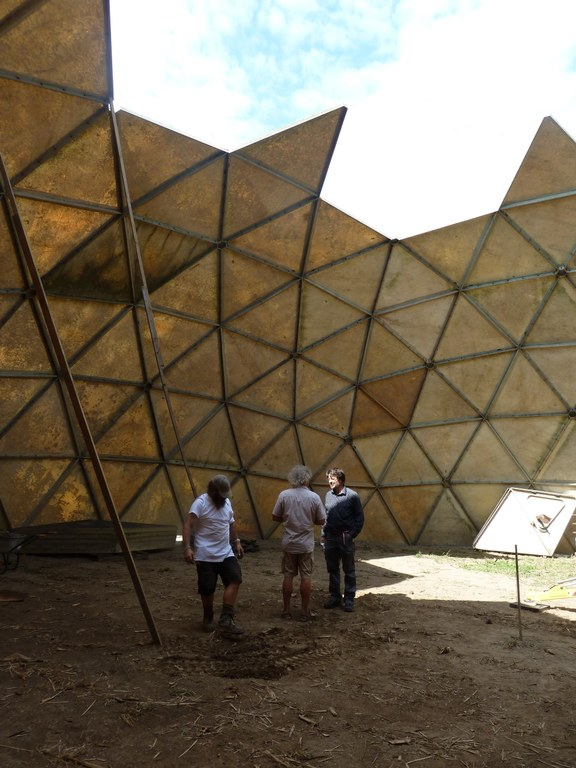 Building up the dome